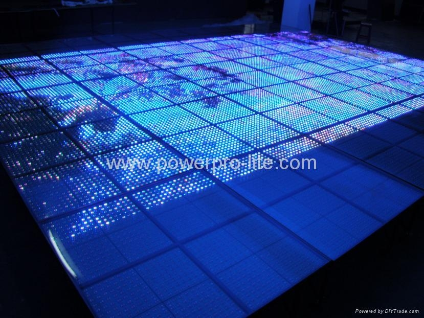 1024-pixels led video floor, project for TV station in Malaysia