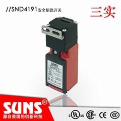 供應SUNS美國三實SND4191-SL-C安全鑰匙開關 安全防護門開關