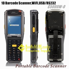 1D WiFi Portable barcode scanner USB/RS232