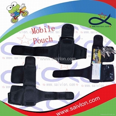Arm pouch and wallet with name card/packet