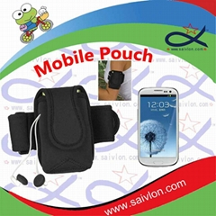 neoprene sports  mobile phone bag for arm
