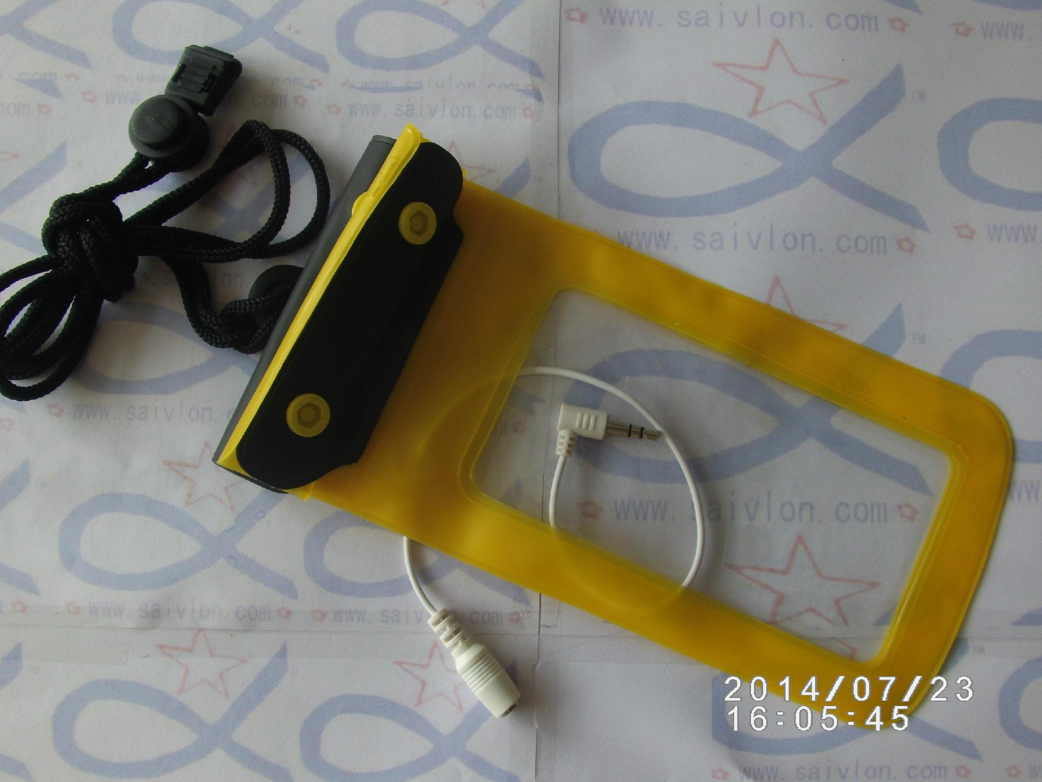 Headphone jack audio line waterproof bag 3