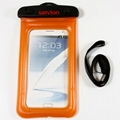 Hang neck type waterproof phone pouch