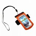 Waterproof arm band phone sets