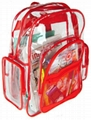 waterproof Transparent PVC backpack bag
