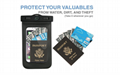 wallet with phone arm pouch
