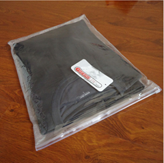 Transparent zipper garment bag