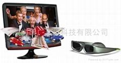 3D Wireless Active Shutter Glasses