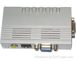 VGA转AV,VGA转S端子,PC TO TV 1