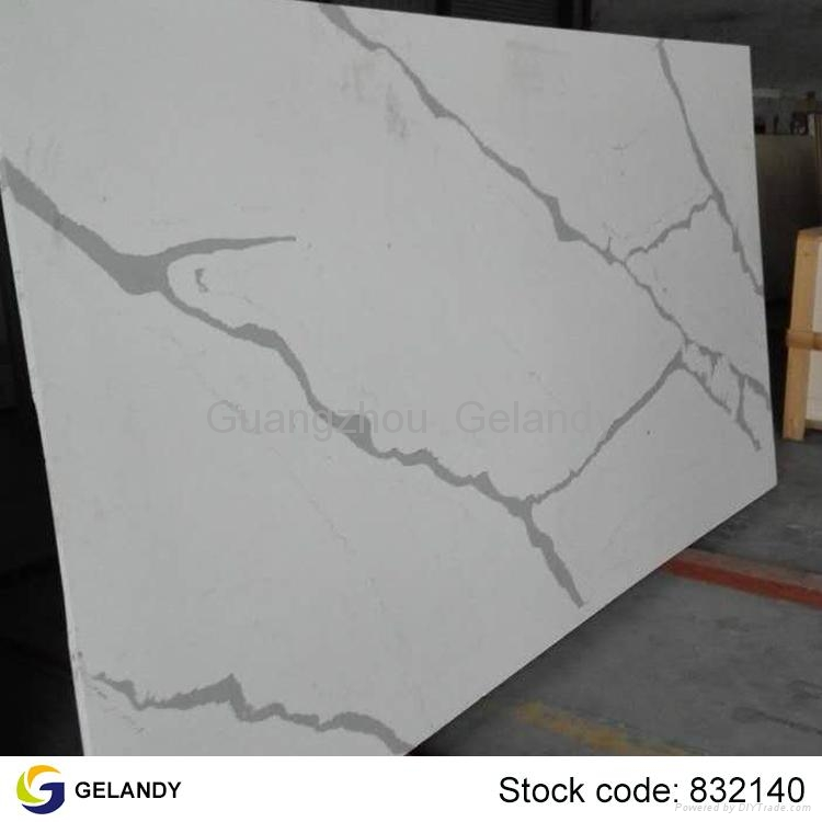 Full size calacatta quartz engineered stone slabs gsg for Quartz slab size