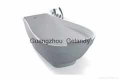 Easy to clean durable freestanding Acrylic solid surface bathtubs