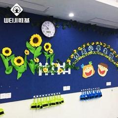 廠家批發唯基彩色軟木板 幼儿園蒙布軟木板布面留言板 顏色多品種全