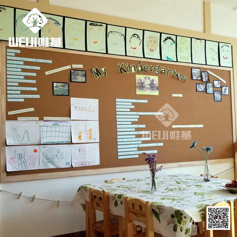 工厂直销唯基软木卷材 幼儿园进口高密度彩色软木卷材 10mm软木卷材 3