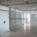 鋼化玻璃隔斷牆86款百葉高隔斷