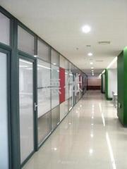辦公高隔斷單玻璃隔牆