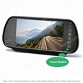 2ch 7inch Touch Screen Clip on Mirror Monitor for AHD cameras
