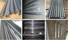 Punched steel angle use for making storage rack