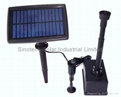 Solar garden water pump kit