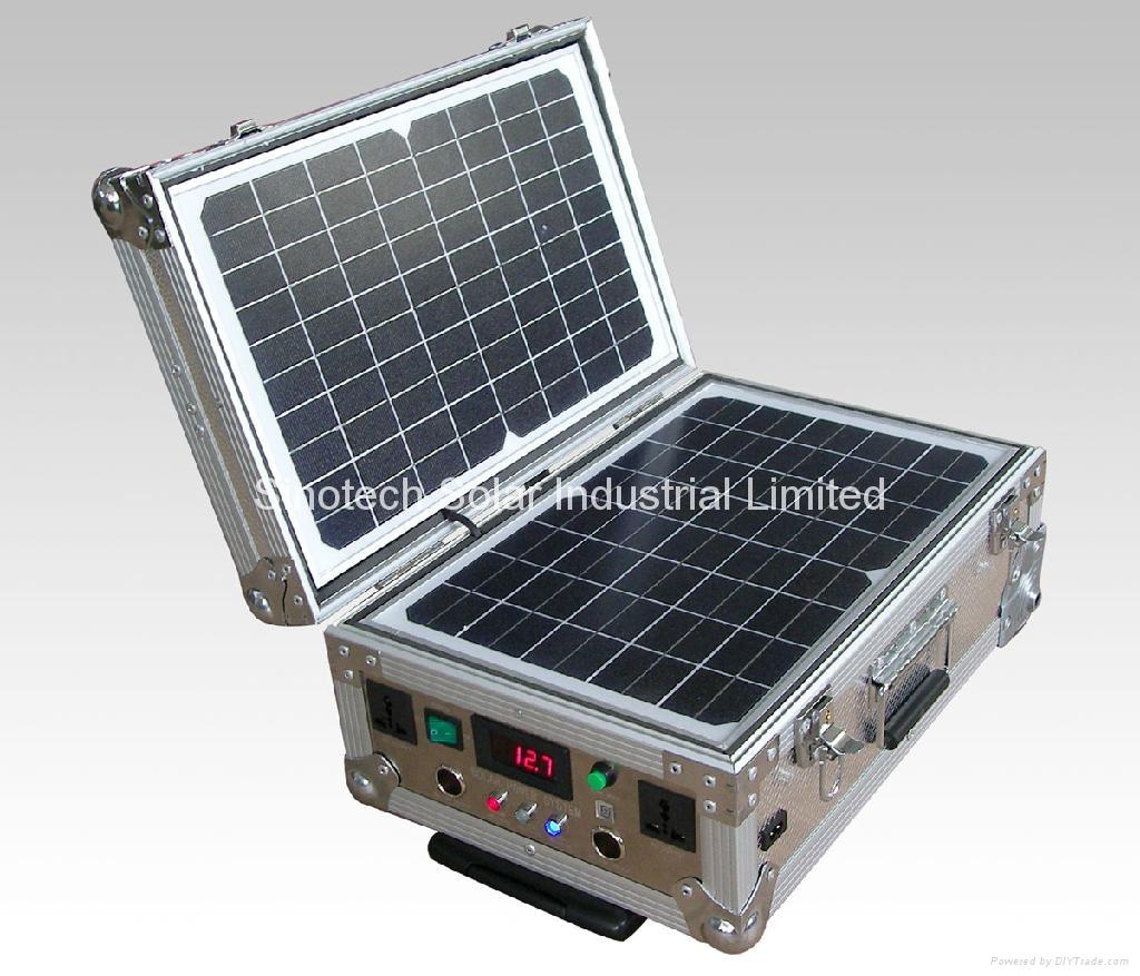 40W Portable solar power kit 1