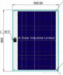 40W Semi Flexible solar panel