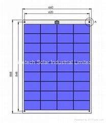 80W Semi Flexible solar panel