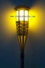 Solar outdoor flickering garden light