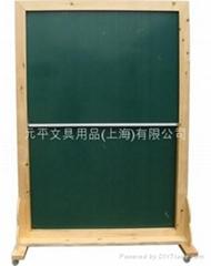 升降原木可移动式双面黑板