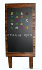 展示架原木制烧杉木黑板