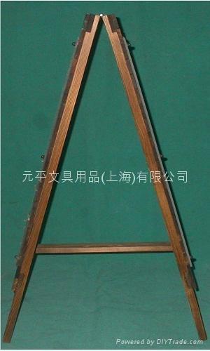 展示架原木製燒杉 2
