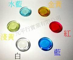20mm 透明磁鐵果凍色
