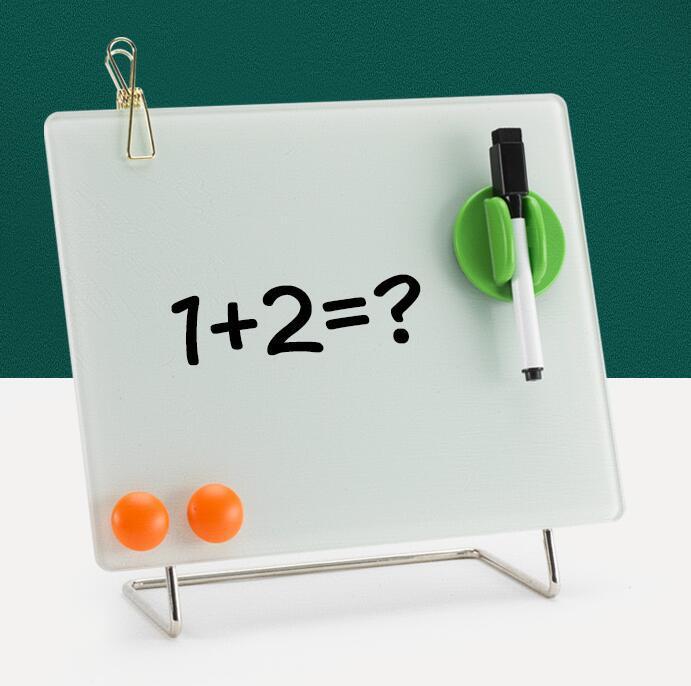 磁性鋼化玻璃桌面迷你寫字板 1