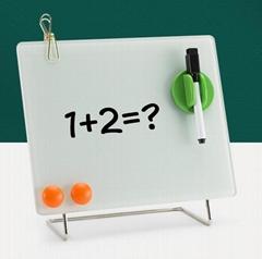 磁性鋼化玻璃桌面小寫字板