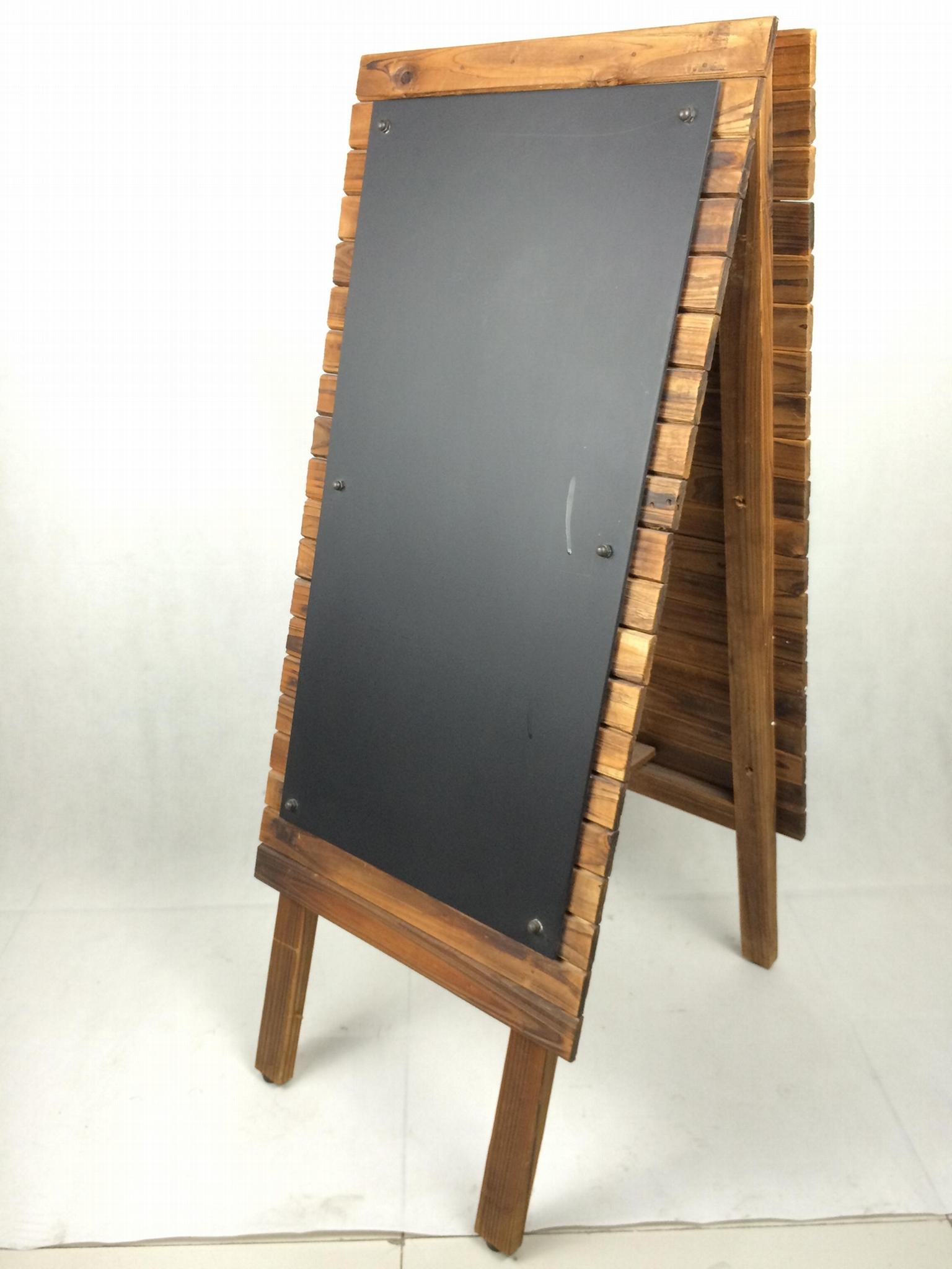展示架原木製燒杉 3