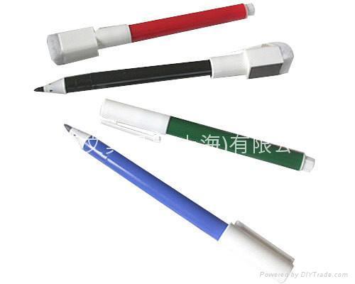 细字附磁性板擦白板笔 1