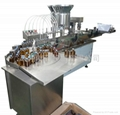 Linear liquid filling& capping machine