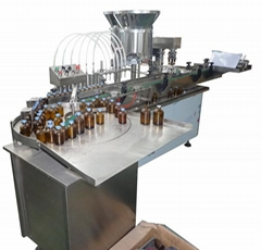 Factory price linear liquid filling& capping machine QGS-T
