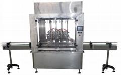 生产线全自动8针液体灌装机YZG-8A