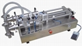 Piston filling machine with two filling