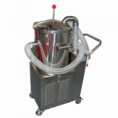 Stainless steel vacuum cleaner for corrosive powder dust