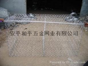 热镀10%铝锌合金钢丝石笼网 1