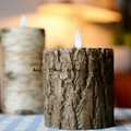 moving wick luminara bark candle wholesale,flicker flame remote control candle 2