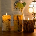moving wick luminara bark candle wholesale,flicker flame remote control candle 5