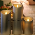3pc set flameless real wax dripping remote control led candles 1
