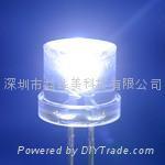 5MM超高亮平頭白光LED