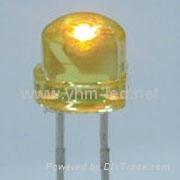 5MM草帽钢盔黄色LED