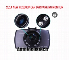 "2.7"" HD1080 P30 Car DVR Recorder H.264 MOV G-Sensor Night Vision Parking Monitor"