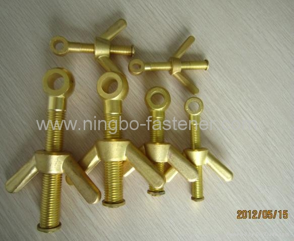 Brass dog bolt with wing nut  Brass butterfly bolt with wing nut fasteners etc 1