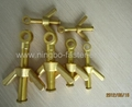 Brass dog bolt with wing nut / Brass butterfly bolt with wing nut, fasteners etc 1