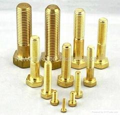 Brass bolts, Brass screws, Brass threaded rods, Brass fasteners, Brass auto part