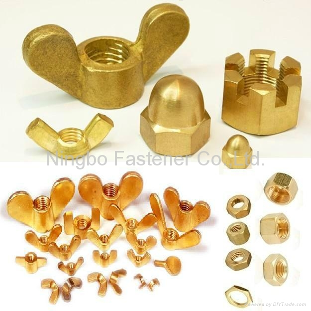 Brass hex nuts Brass wing nuts Brass cap nuts Brass slotted nuts Brass nuts 1